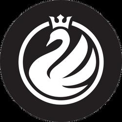 Swan Logo Minimalistic Crown Sticker