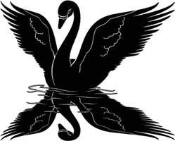Swan Reflection Sticker