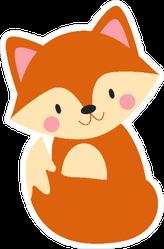 Sweet Baby Fox Sticker