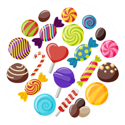 Sweet Candy Assortment Sticker