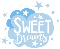 Sweet Dreams Cartoon Cloud Sticker