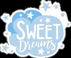 Sweet Dreams Cartoon Cloud Sticker