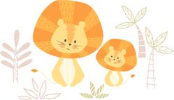 Sweet Lion Family Sticker
