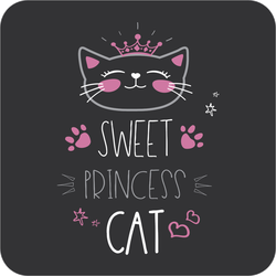 Sweet Princess Cat Sticker