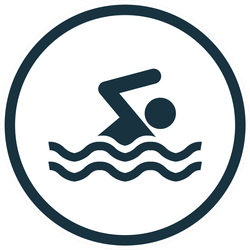 Swim Icon Vector Sticker