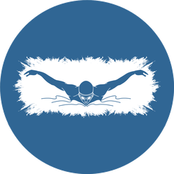 Swimming Butterfly Man Swimming Blue Sticker