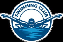 Swimming Club Logo Sticker