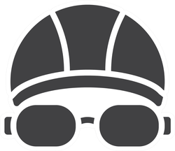 Swimming Hat And Glasses Vector Icon Sticker