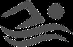 Swimming Icon Sticker