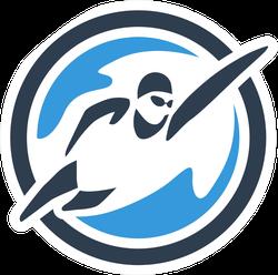 Swimming Logo Sticker
