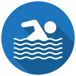 Swimming Pool Flat Icon Sticker