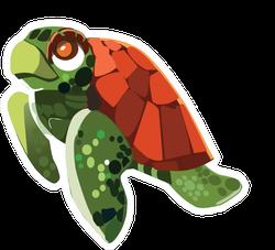 Swimming Sea Turtle Sticker