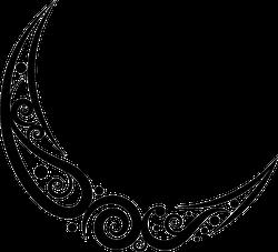 Swirl Moon Sticker