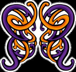 Swirling Butterfly Celtic Knot Sticker