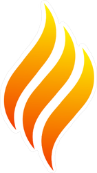Swirling Flame Sticker