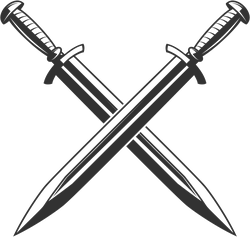 Swords Crossed Illustration Sticker