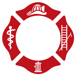 Symbol Of Fire Department Sticker