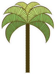 Symmetrical Palm Tree Sticker