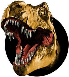 T-Rex Dinosaur Head Roaring Sticker