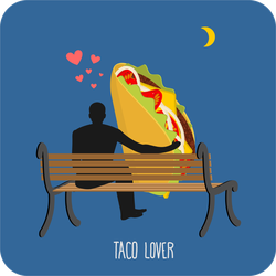Taco Lover Sticker