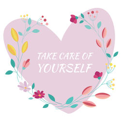 Take Care of Yourself Heart Sticker