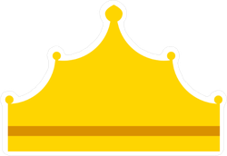 Tall King Crown Icon Sticker