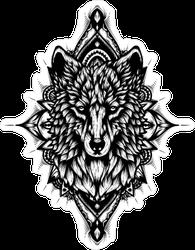 Tattoo Design Wolf Sticker