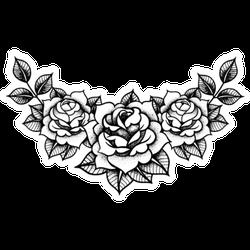 Tattoo Roses Flower Set Sticker