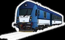 Technical Illustration Of Train, Locomotive Sticker