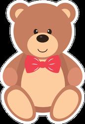 Teddy With Tie Sticker
