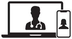 Telemedicine Or Telehealth Virtual Visit Illustration Sticker