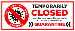 Temporarily Closed Sticker