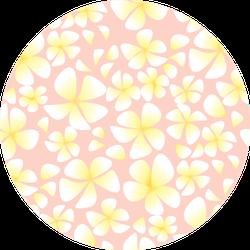 Tender Pastel Rose Plumeria Flowers Seamless Pattern Sticker