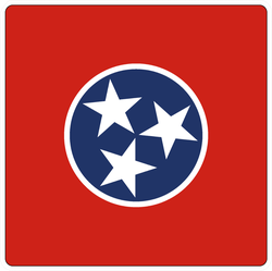 Tennessee Square Flag Sticker