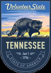 Tennessee Volunteer State Banner Sticker