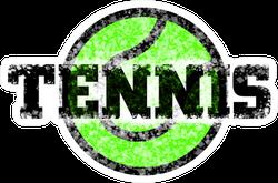 Tennis Ball And Font Sticker