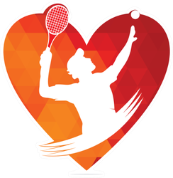 Tennis Heart Shape Design Sticker