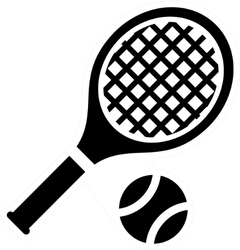 Tennis Icon Sticker