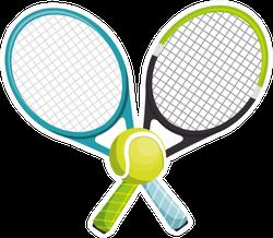 Tennis Racket Equipment Sticker