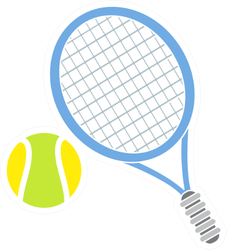 Tennis Sport Icon Sticker