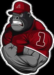 Terrible Gorilla Athlete Sticker