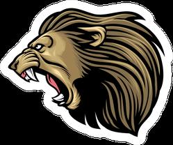 Terrifying Roaring Lion Head Sticker