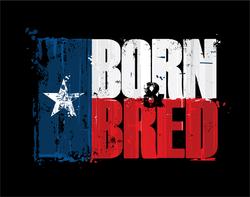 Texas Born And Bred Sticker