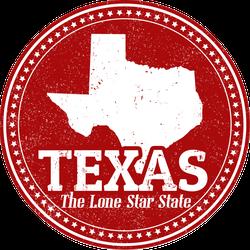 Texas Lone Star State Stamp Sticker