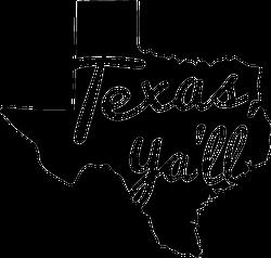 Texas Ya'll State Sticker