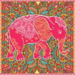 Textile Pattern Elephant Sticker