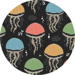 Texture With Jellyfishes Pattern Sticker