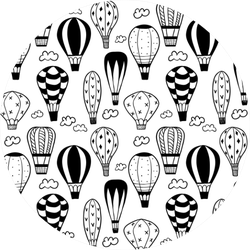 Textured Doodle Balloons Sticker