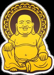 Thai Golden Buddha Statue Sticker