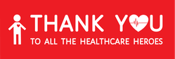 Thank You Healthcare Heroes Sticker